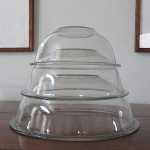 Pyrex Clear Glass Bottom Mixing Bowls